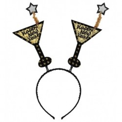 Diadema cotillon copas Happy New Year oro para nochevieja