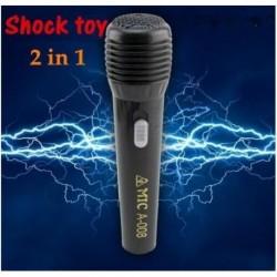 Broma microfono calambre descarga electrica leve