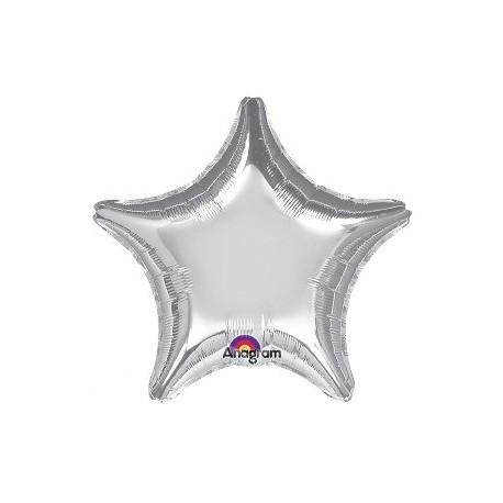 Globo estrella plata gigante para helio 80 cm barato - Helio para inflar globos barato ...