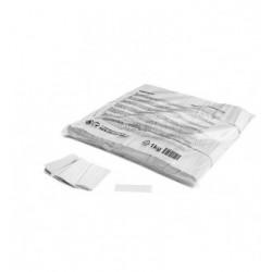 Confeti papel rectangular blanco
