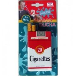 Broma paquete de tabaco ducha salpica agua