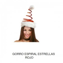 Gorro Papa Noel melle espiral