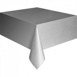 MANTEL COLOR PLATA 137 x 234 cm PLASTICO