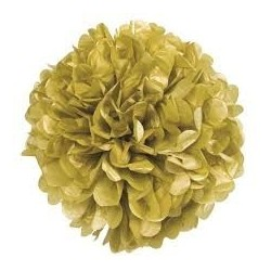 POM POM COLGANTE DECORATIVO COLOR ORO 40 CM