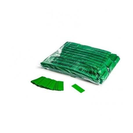 Confeti papel rectangular verde