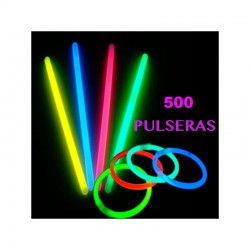 PACK 500 PULSERAS REMOVEDORES LUMINOSOS